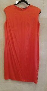 Women's Bright Orange Silk Magaschoni Dress